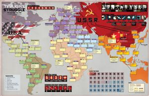 Twilight Struggle: Mounted Map Board